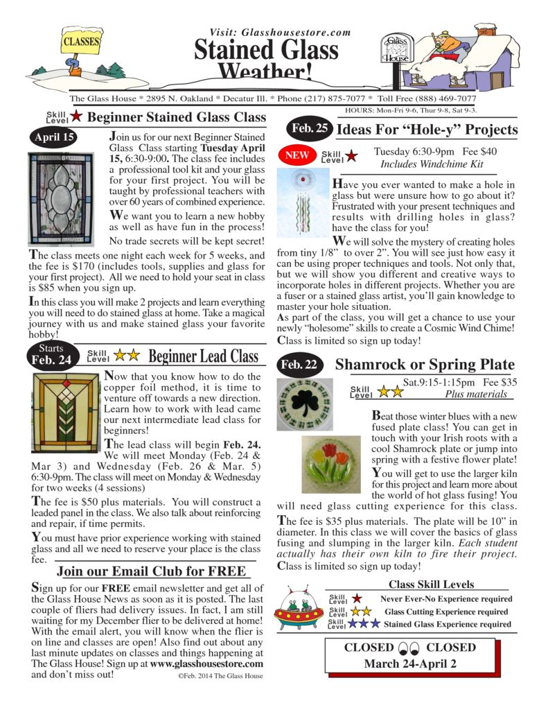 thumbnail of Stained Glass Sale Flier February 2014