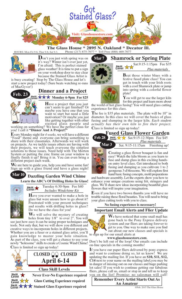 thumbnail of Stained Glass Sale Flier February 2015