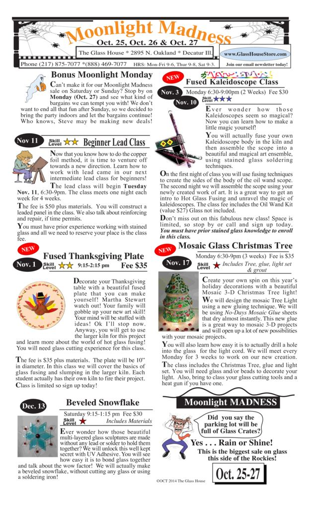 thumbnail of Stained Glass Sale Flier October 2014