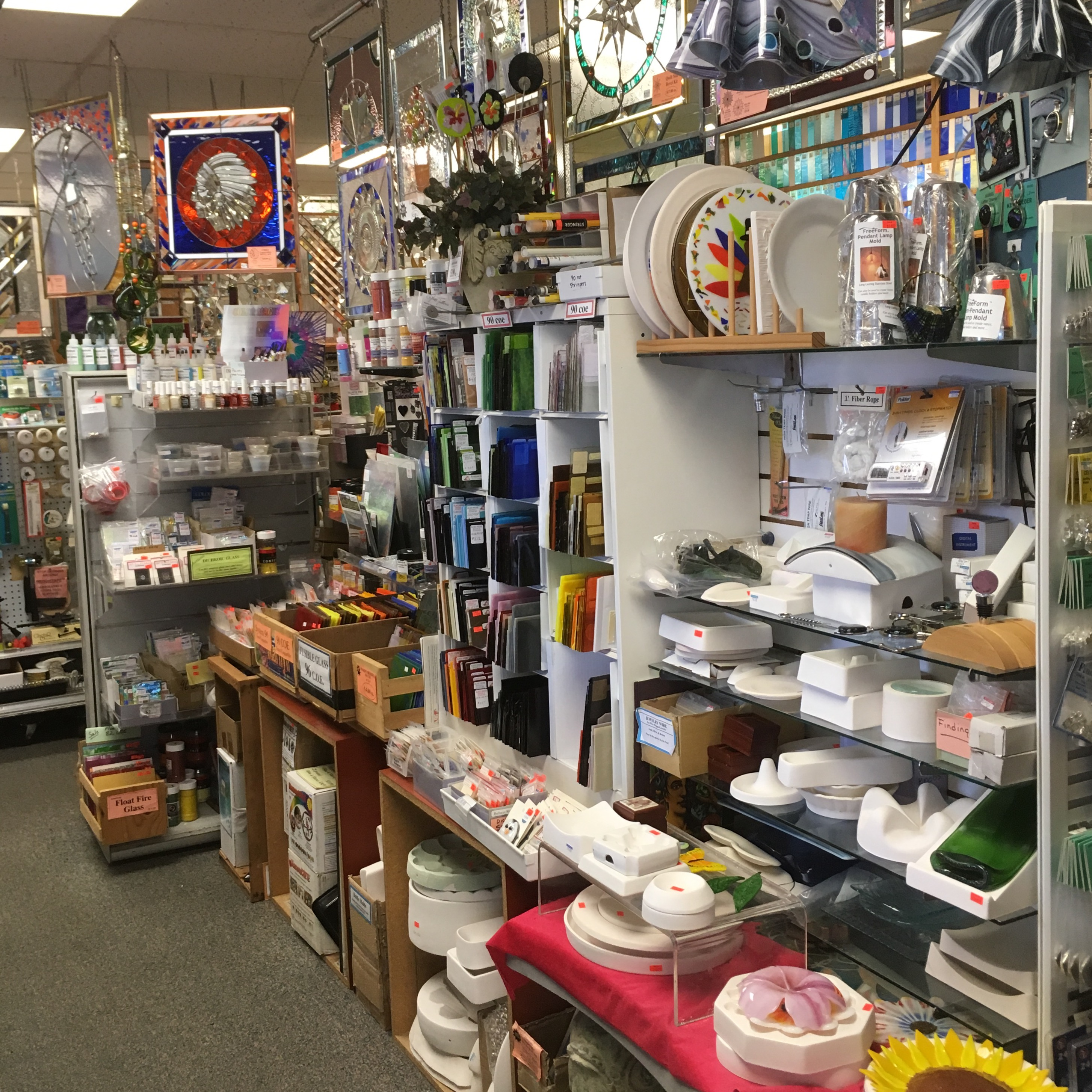 Largest selection of fusing glass and supplies in the Midwest.