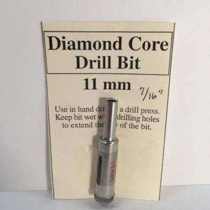 "7/16"" Diamond Core Glass Drill Bit (11 mm)"
