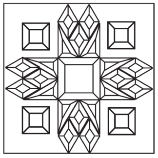 """MMS 7003 Glass Bevels Cluster 10-1/2"""" x 10-1/2"""""""