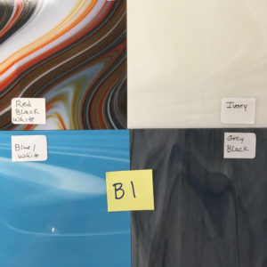 "Includes 4 sheets of Fuser's Reserve 96 (12"" x 12""). Colors include: 1) Charcoal/Red/White, 1) Pastel Almond/Ivory, 1) Blue/White, 1) Pewter/White/Black"