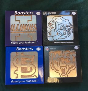 U of I, Chicago Blackhawks, St. Louis Cardinals and Chicago Bears Boaster Coasters
