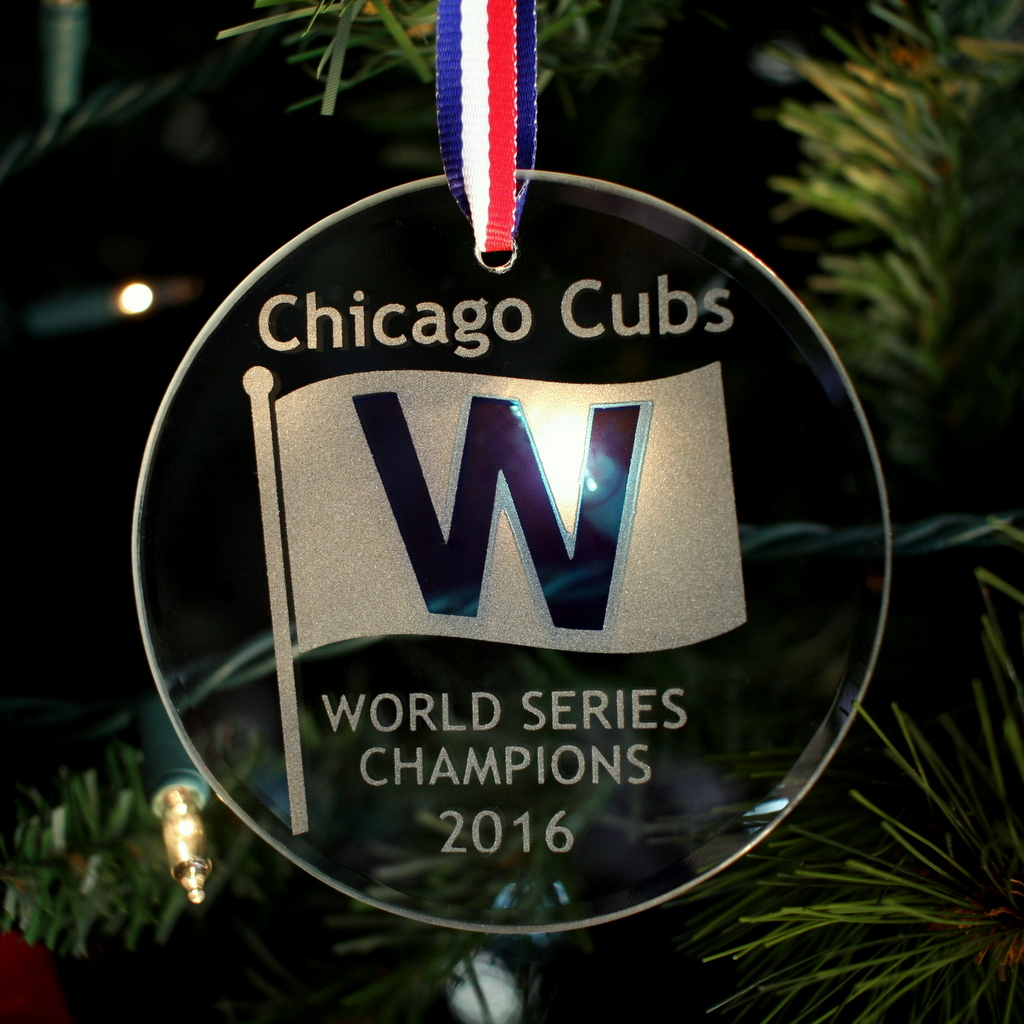 Chicago Cubs World Champions W Ornament | Glass House Store