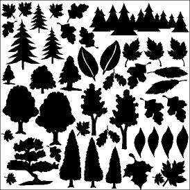 Trees and Leaves Foil Overlay