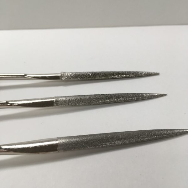 Diamond glass file set close up