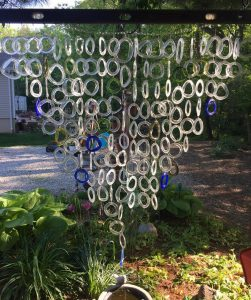 Huge wine bottle ring wind chime project