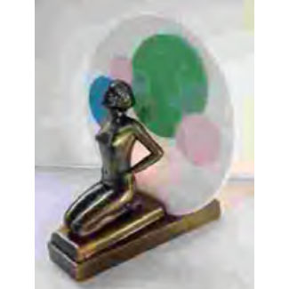 Kneeling lady art deco lamp base