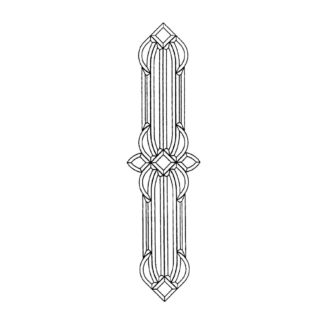 Clear Beveled Glass Cluster - MR 608