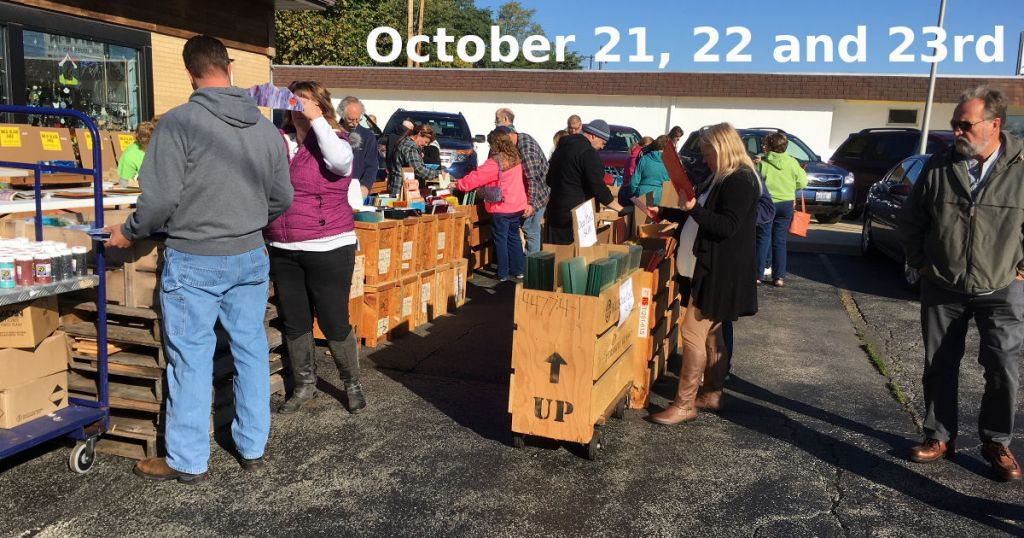 2017 Fall Glass Sale October 21, 22, and 23rd Parking Lot Sale