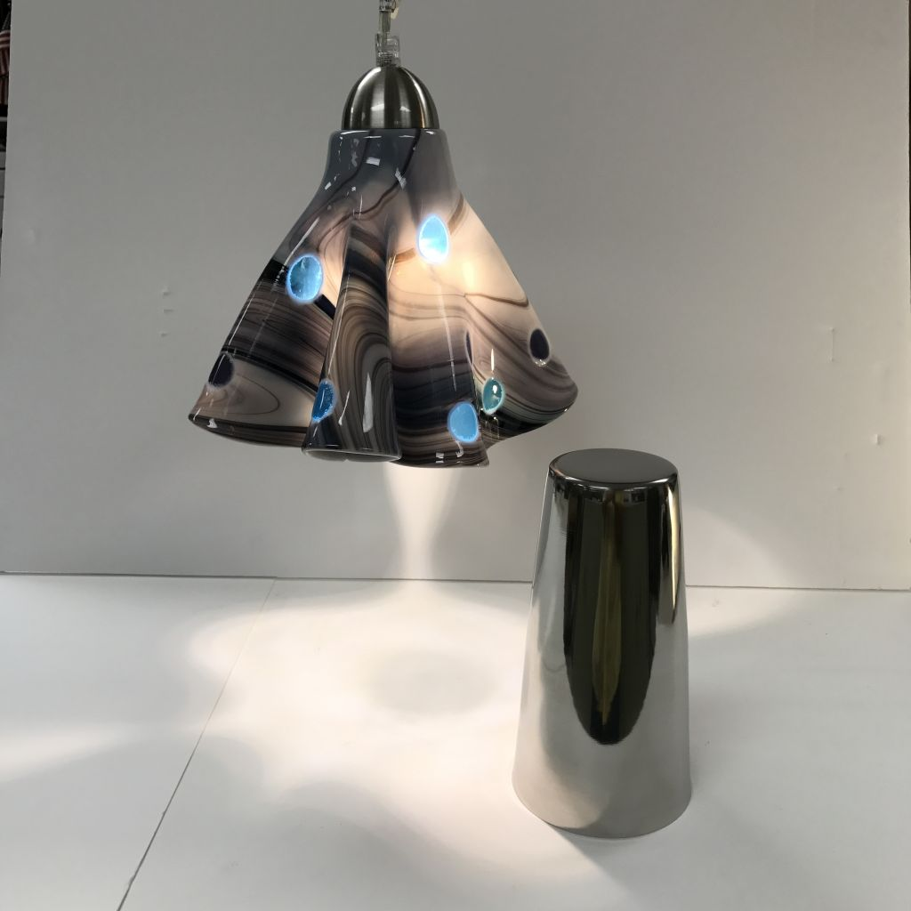 Free Form Pendant Lamp Mold Large Stainless Steel