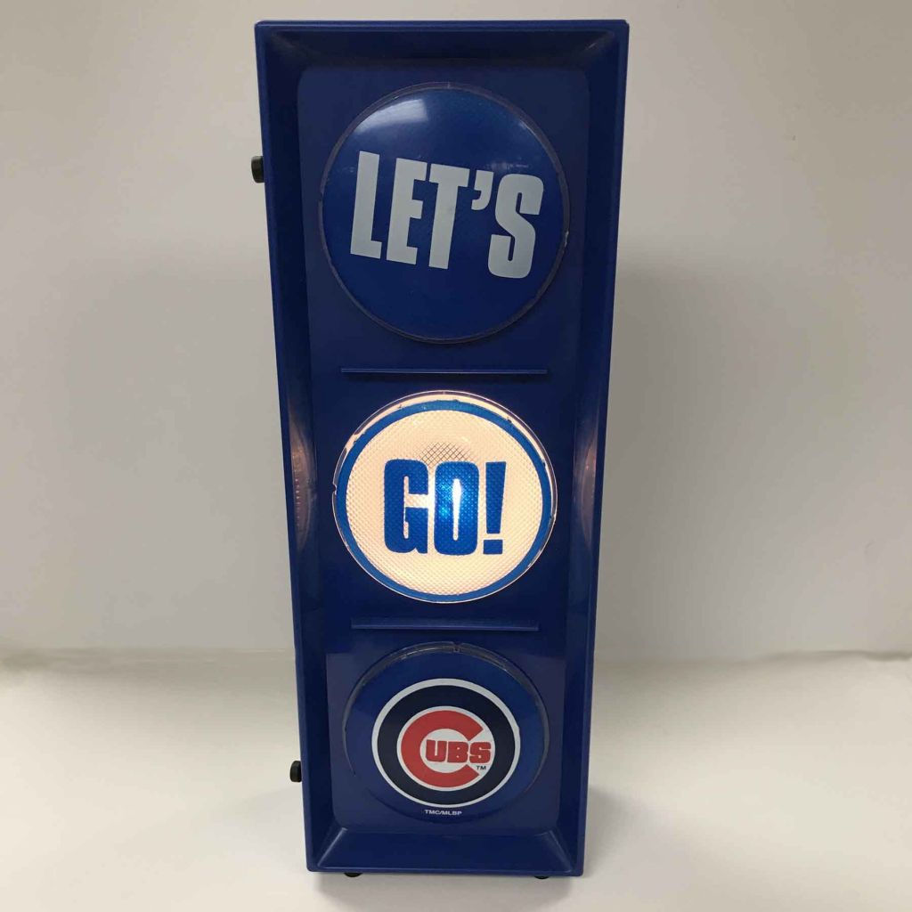 Lets go Chicago Cubs Traffic Light Vertical view