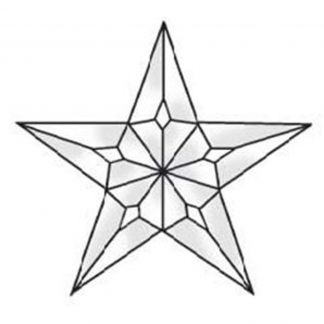 5 point Star Clear Beveled Glass Cluster - MEC 227