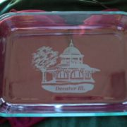 Decatur Transfer House Pyrex Baking Dish